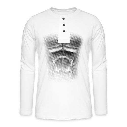 echt muskeln dark - Henley Langarmshirt