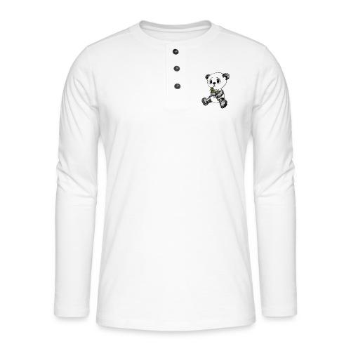 Panda Karhu värillinen scribblesirii - Henley pitkähihainen paita