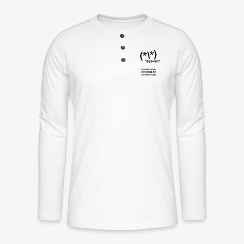 Ir- RegEx - außergewöhnliche Programmierer - Henley Langarmshirt