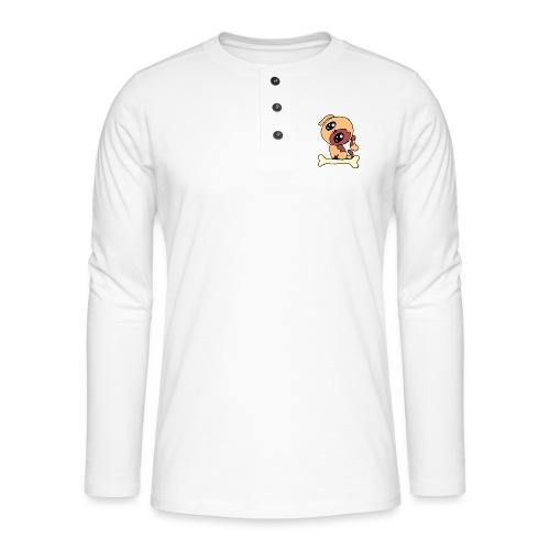 Kawaii le chien mignon - T-shirt manches longues Henley