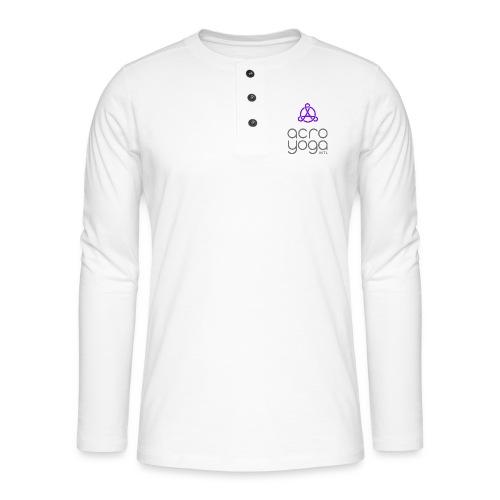 AcroYoga International Logo - Henley long-sleeved shirt