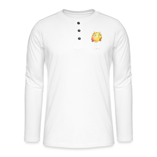 Happy yellow bird - Henley Langarmshirt