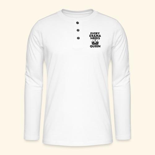 EVERY DRAMA black png - Henley long-sleeved shirt
