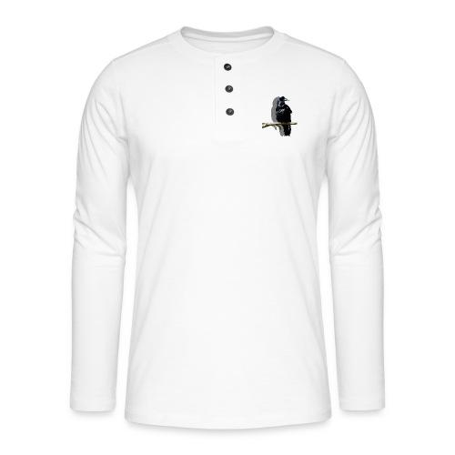 Rabenschwarz - Henley Langarmshirt