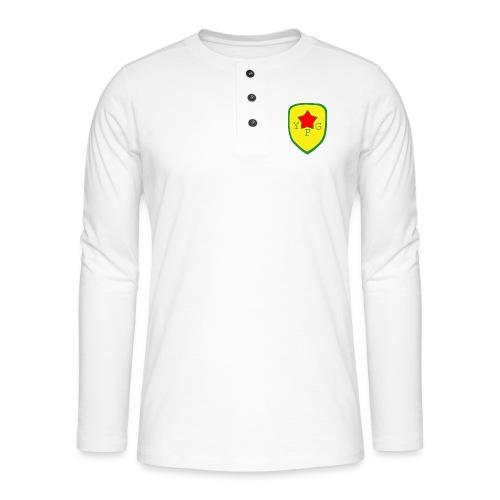 Unisex Red YPG Support Hoodie - Henley pitkähihainen paita
