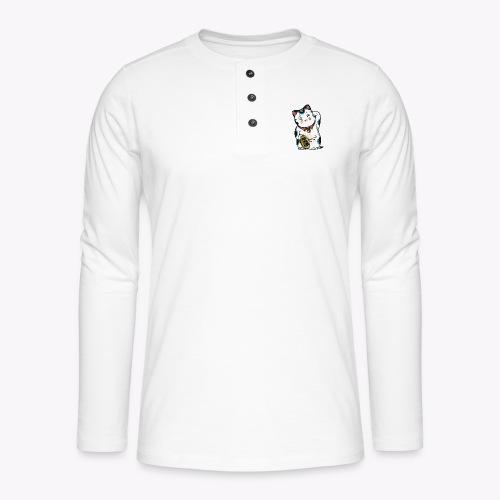 The Lucky Cat - Henley long-sleeved shirt