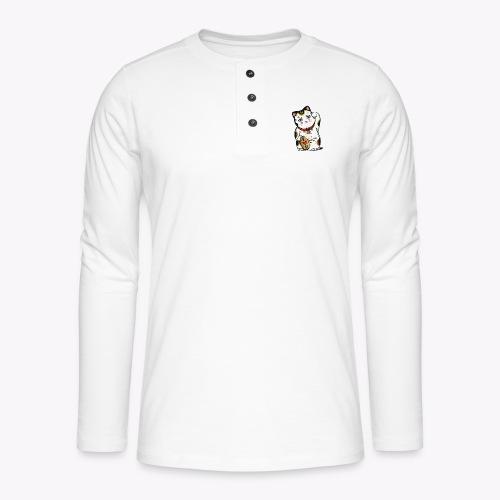 Love Lucky Cat - Henley long-sleeved shirt
