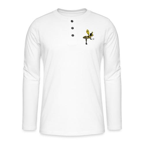 Abeja - Camiseta panadera de manga larga Henley