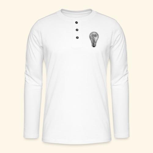 moon bulb - Camiseta panadera de manga larga Henley