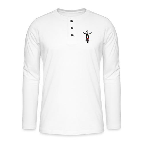 calavera moto - Camiseta panadera de manga larga Henley