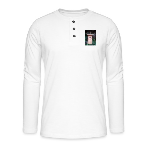 Der Nistkasten - Luxus für den Garten-Vogel - Henley Langarmshirt