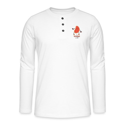 La carne es débil - Camiseta panadera de manga larga Henley