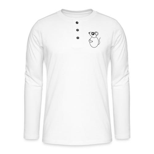 Rat - not Cool - sw - Henley Langarmshirt