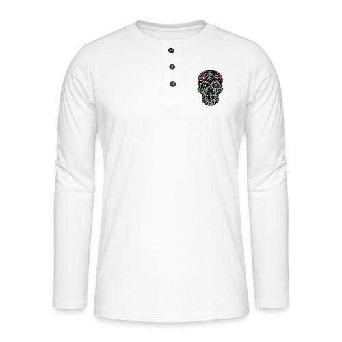 Floral Skull - Henley long-sleeved shirt