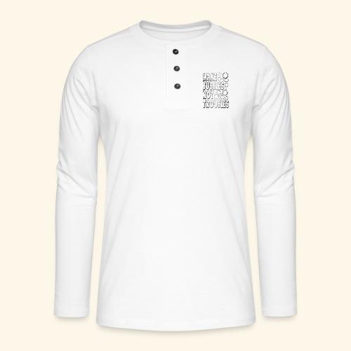 Bubbles002 - Henley shirt met lange mouwen