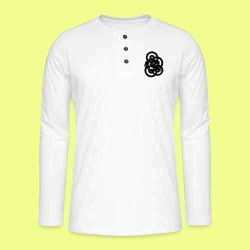 espirales negras - Camiseta panadera de manga larga Henley