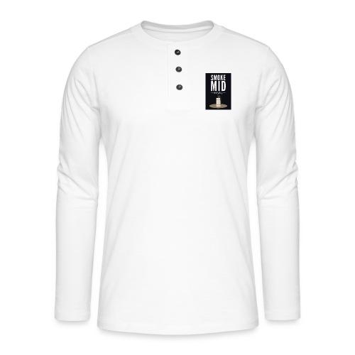 smoke mid - Henley shirt met lange mouwen