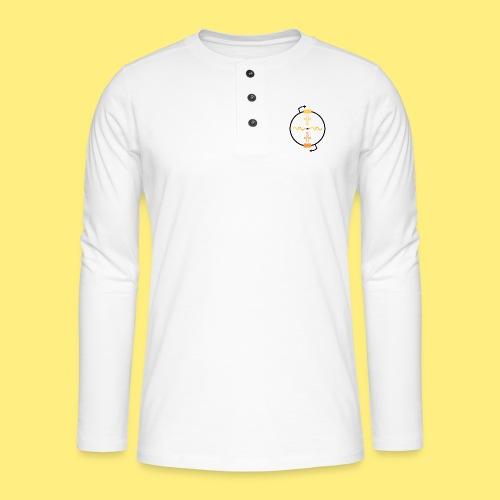 Biocontainment tRNA - shirt men - Henley shirt met lange mouwen