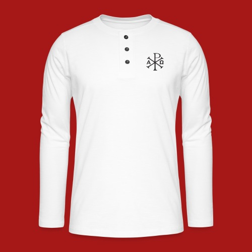 Kompasset-AP - Henley T-shirt med lange ærmer