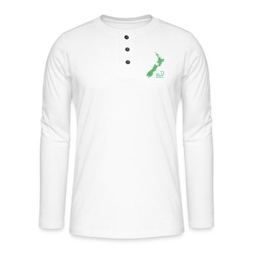 New Zealand's Map - Henley long-sleeved shirt