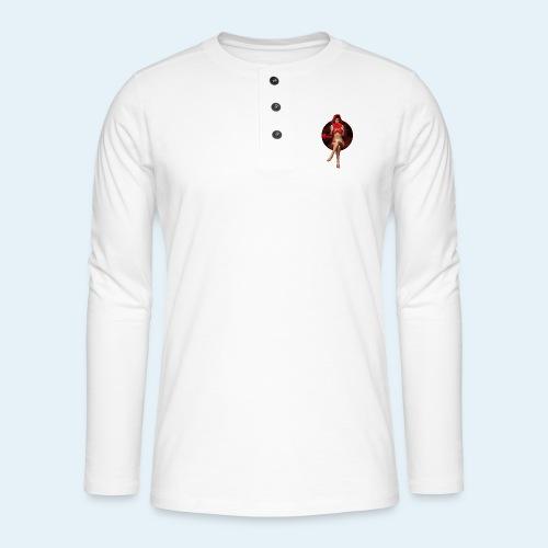 Red Readings - Camiseta panadera de manga larga Henley