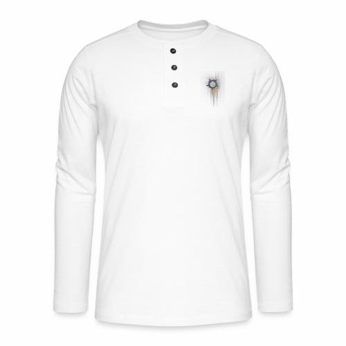 Mandala fraktaali - Henley pitkähihainen paita