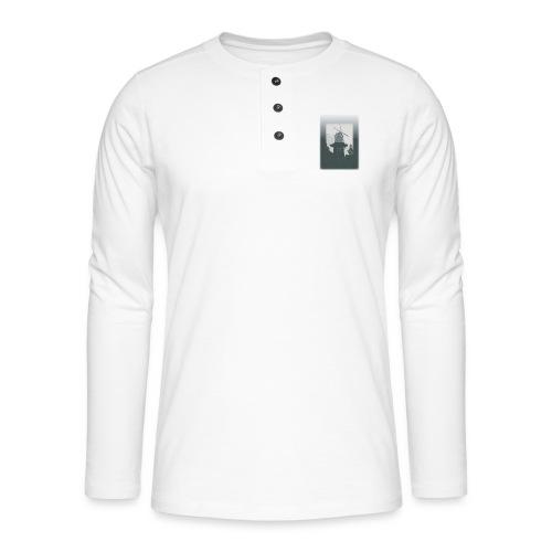 Mills grey - Henley T-shirt med lange ærmer