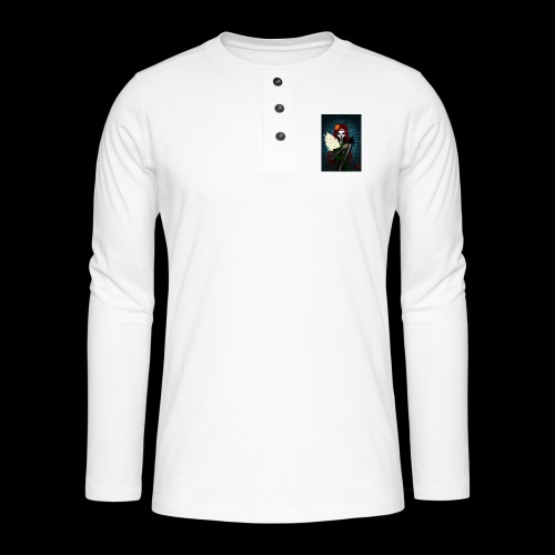 Death and lillies - Henley long-sleeved shirt