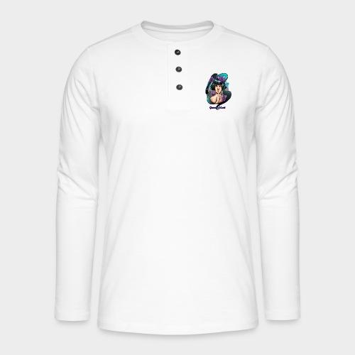 Geneworld - Papillons - T-shirt manches longues Henley