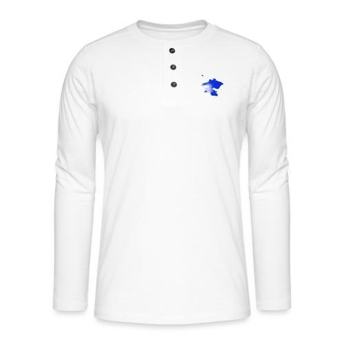 ink splatter - Henley long-sleeved shirt
