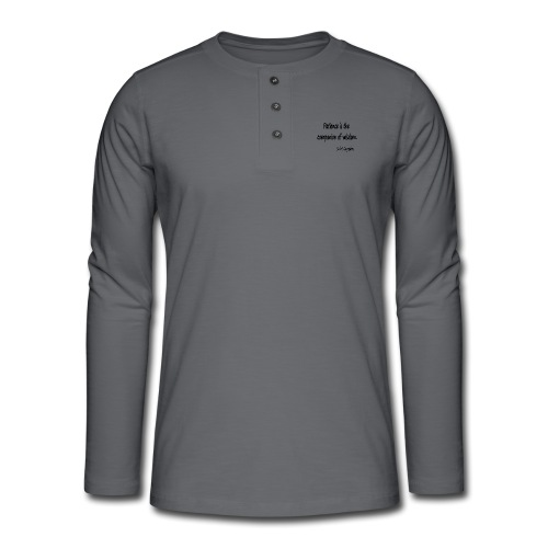 Peace and Wisdom - Henley long-sleeved shirt