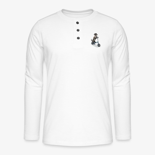 Dog Cyclist - Henley long-sleeved shirt