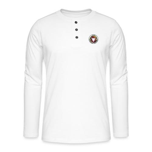 Logo des Laufteams - Henley Langarmshirt