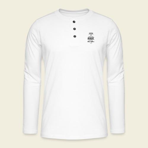 Schwarzes Schaf - white edition - Henley Langarmshirt