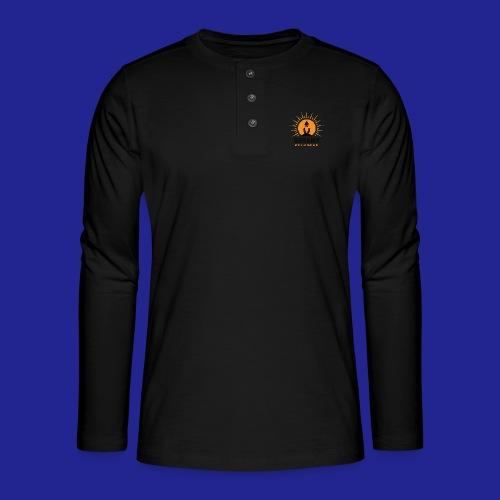 final nero con scritta - Henley long-sleeved shirt