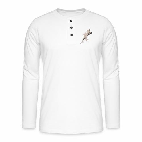 Crested Gecko - Henley Langarmshirt
