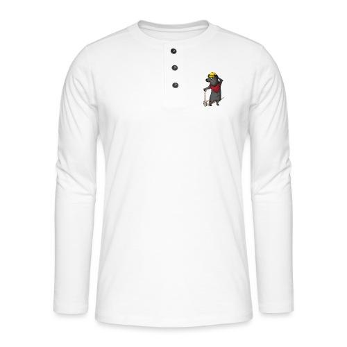 Arbeiter Ratte - Henley Langarmshirt
