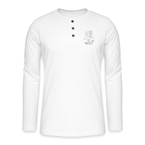 der graue Katzer - Henley Langarmshirt