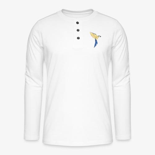 Papagei geometrisch - Henley Langarmshirt