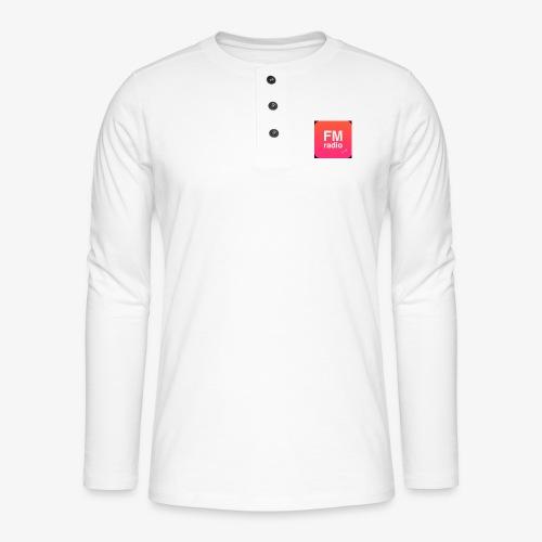 logo radiofm93 - Henley shirt met lange mouwen