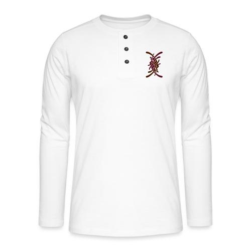 Lille logo på bryst - Henley T-shirt med lange ærmer