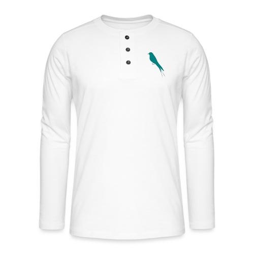 Golondrina - Camiseta panadera de manga larga Henley