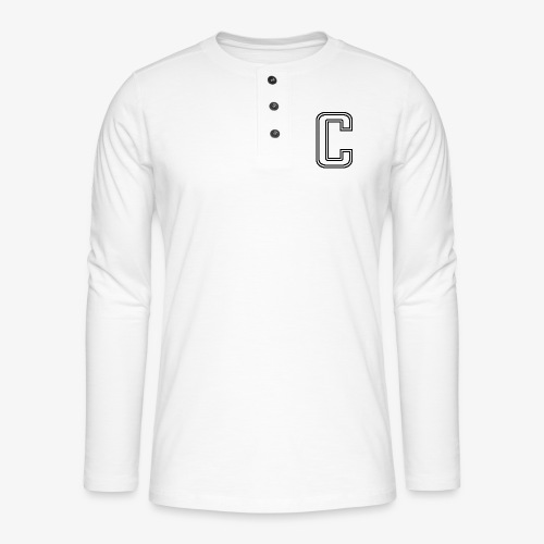 thiccc C logo WHITE - Henley long-sleeved shirt