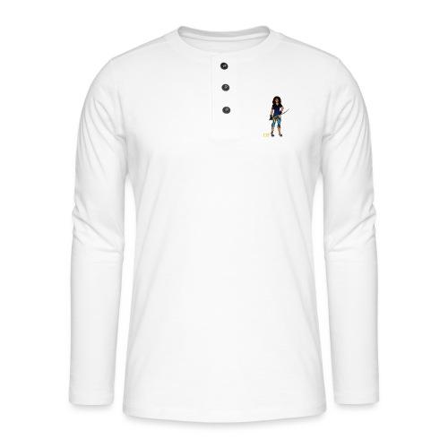 Sabre fencer - Henley long-sleeved shirt