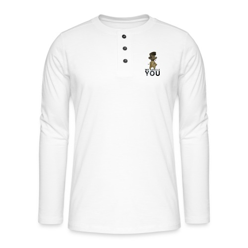 WE NEEDLE YOU - T-shirt manches longues Henley
