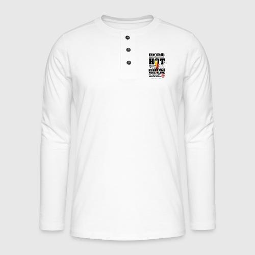 chili - Henley T-shirt med lange ærmer