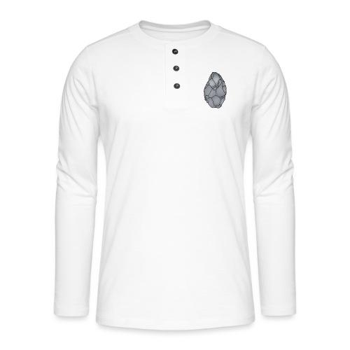 Faustkeil Steinzeit c - Henley Langarmshirt
