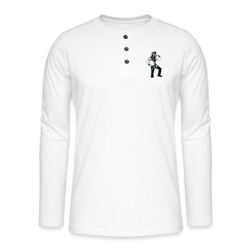 Grrr leather bear - T-shirt manches longues Henley