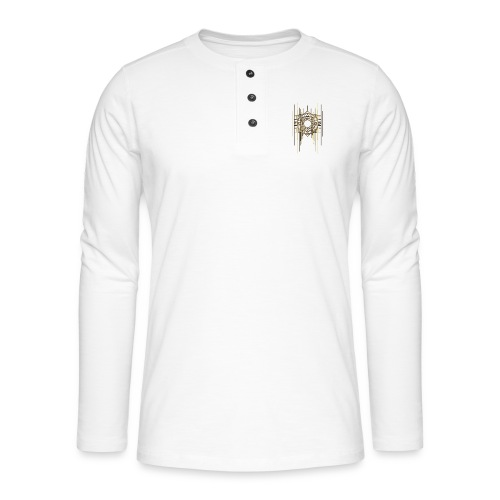 Abstract Geometry Gold Metal Art Deco Vintage - Henley long-sleeved shirt