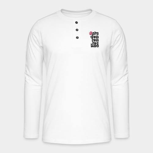 #studententechno (groß) - Henley Langarmshirt